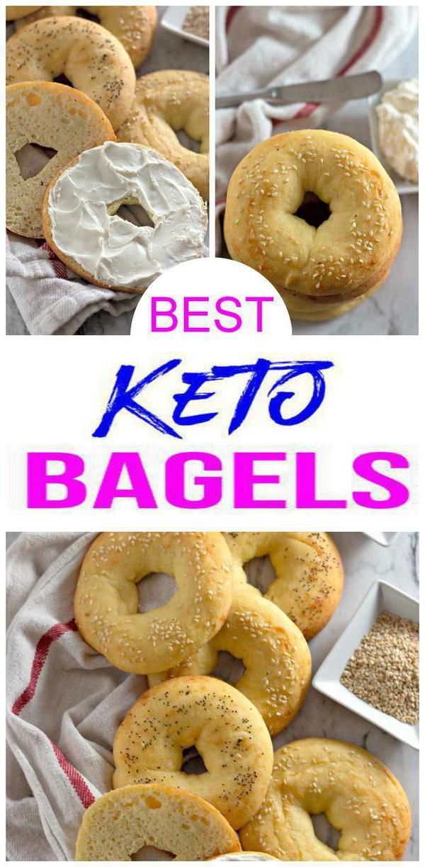 5 Ingredient Keto Bagels! BEST Low Carb Fathead Dough Bagel Idea – Quick & Easy Ketogenic Diet Recipe – Completely Keto Friendly - Gluten Free