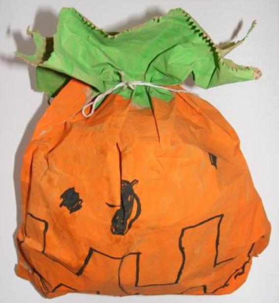 Stuffed pumpkin craft #papertowelcrafts #paper #towel #crafts #preschool #pumpkincraftspreschool