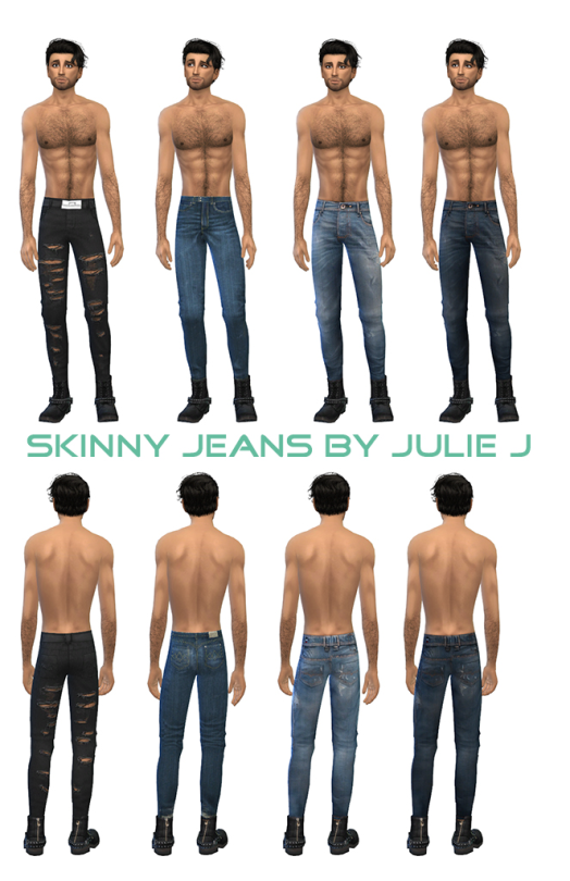 8614ed59aeb Male Skinny Jeans by Julie J | Man clothes | Sims 4、Js sims 4、Js sims