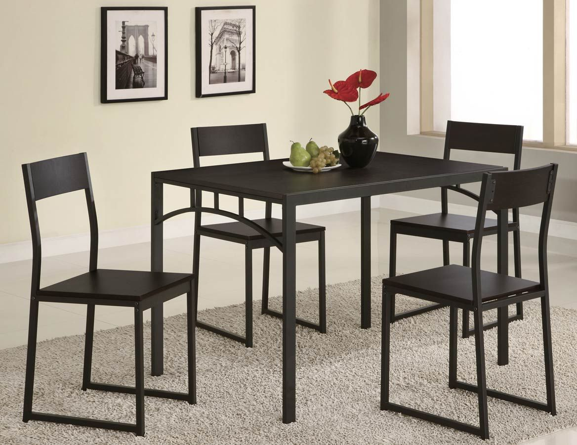 45++ Coaster 5pc cappuccino finish counter height dining table Various Types