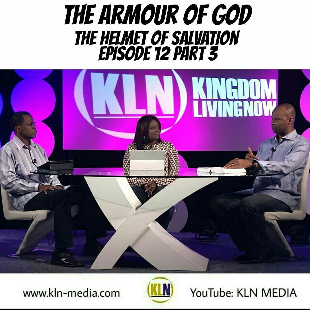 Kingdom Living Now  Today we published Part 3 in our Armour of God Series: The Helmet of Salvation. Here is the link on our YouTube channel: KLN MEDIA - https://youtu.be/S3ZH5-EIv3E  The enemy will always try to come against your mind; and so, you must know how the Helmet of Salvation works for you and how it keeps the rest of the armour in tact, allowing you to STAND.  Salvation comes to us by God's grace.  Satan had us in captivity unto death.  Jesus paid the price to give us a great…