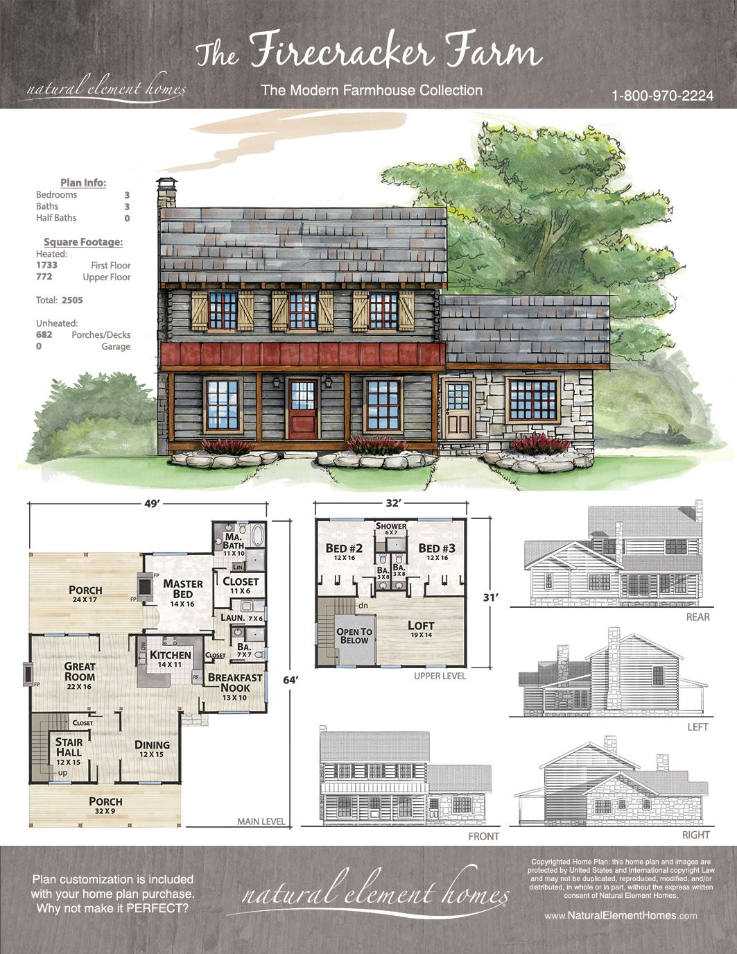 Firecracker farm natural element homes farmhouse