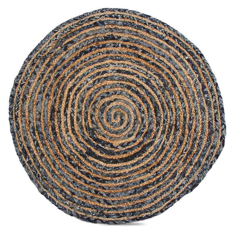 Tag Handwoven Denim Jute Round Doormat Tag207160 Rugs