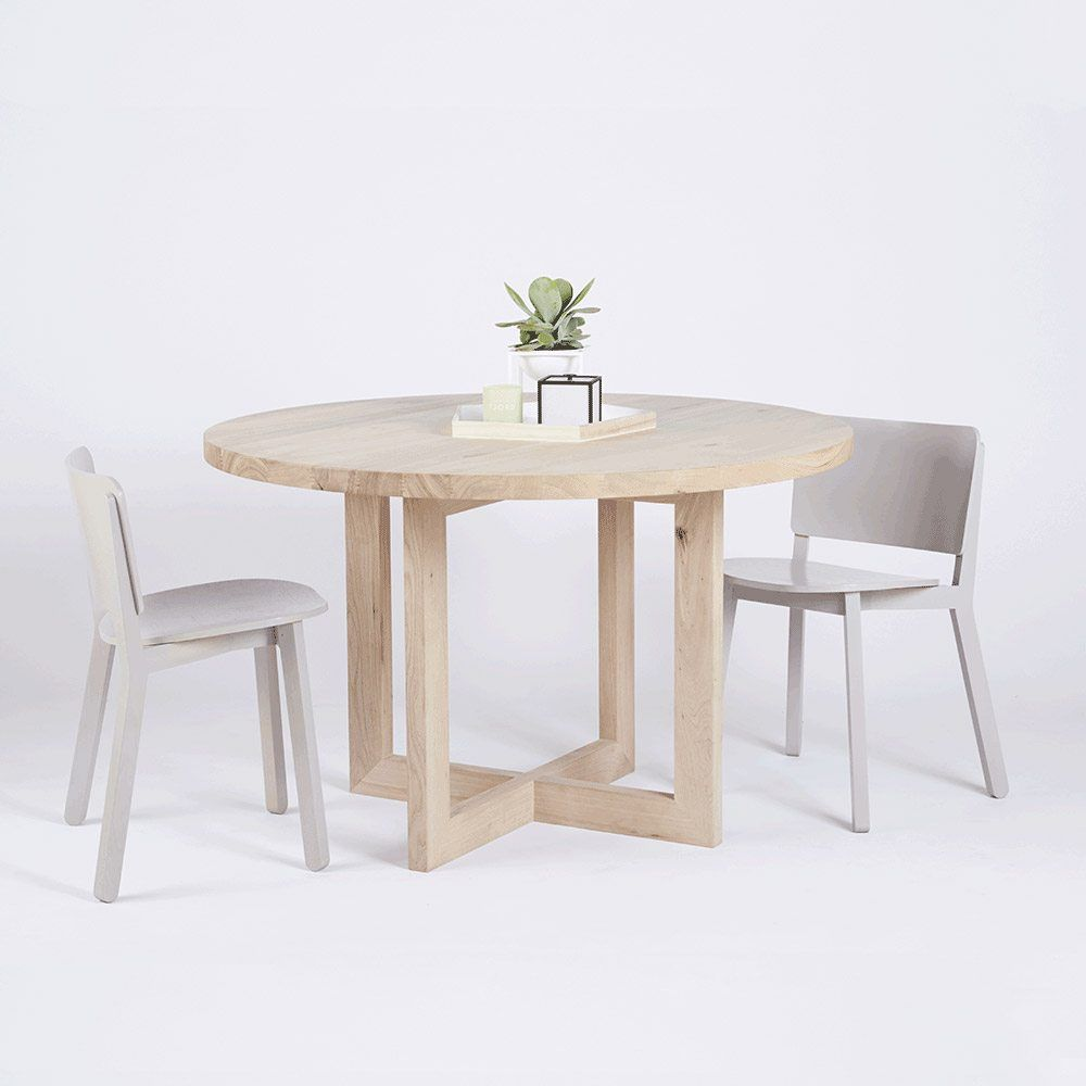 Round Timber Dining Table Designer Round Solid Oak Timber Dining Table Contemporary