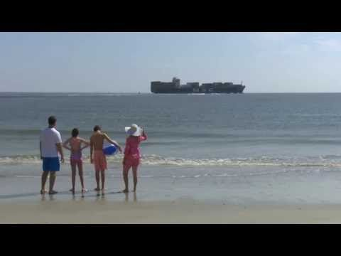 Watch Enormous Cargo Ships From North Beach On Tybee Island Tybee Island North Beach Beach