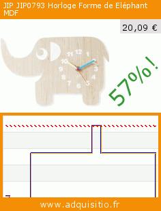 JIP JIP0793 Horloge Forme de Eléphant MDF (Cuisine). Réduction de 57%! Prix actuel 20,09 €, l'ancien prix était de 46,92 €. http://www.adquisitio.fr/jip/0793-horloge-forme
