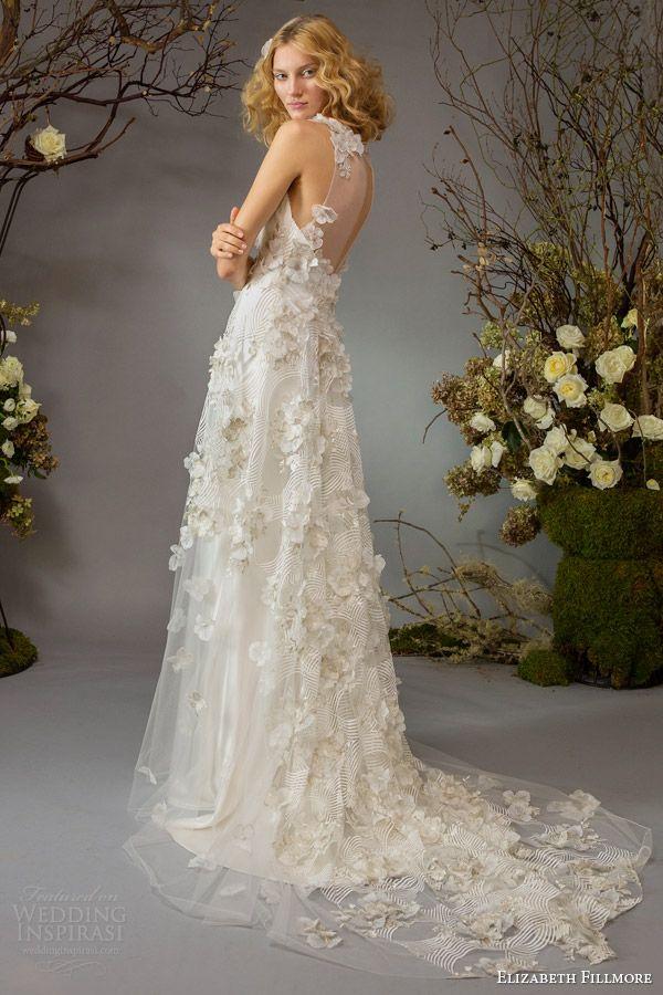 Cute elizabeth fillmore bridal fall palace garden wedding dress back train