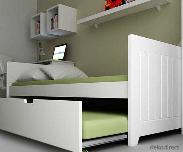 Cama nido altea camas for Cama individual blanca