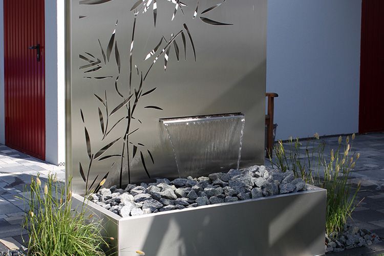 Paras Wasserobjekt Ist Die Kombination Wasser Und Metall. Wasser ... Cortenstahl Garten Terrasse Produkte