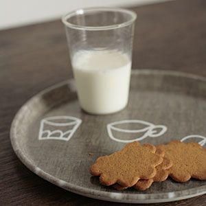 tray of ginger snaps and milk