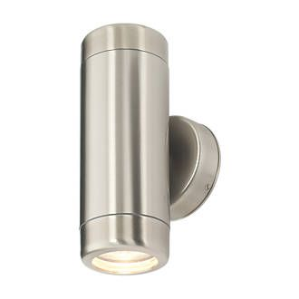 35w Brushed Stainless Steel Barracuda Up Down Wall Light Up Down Wall Light Wall Lights Brushed Stainless Steel
