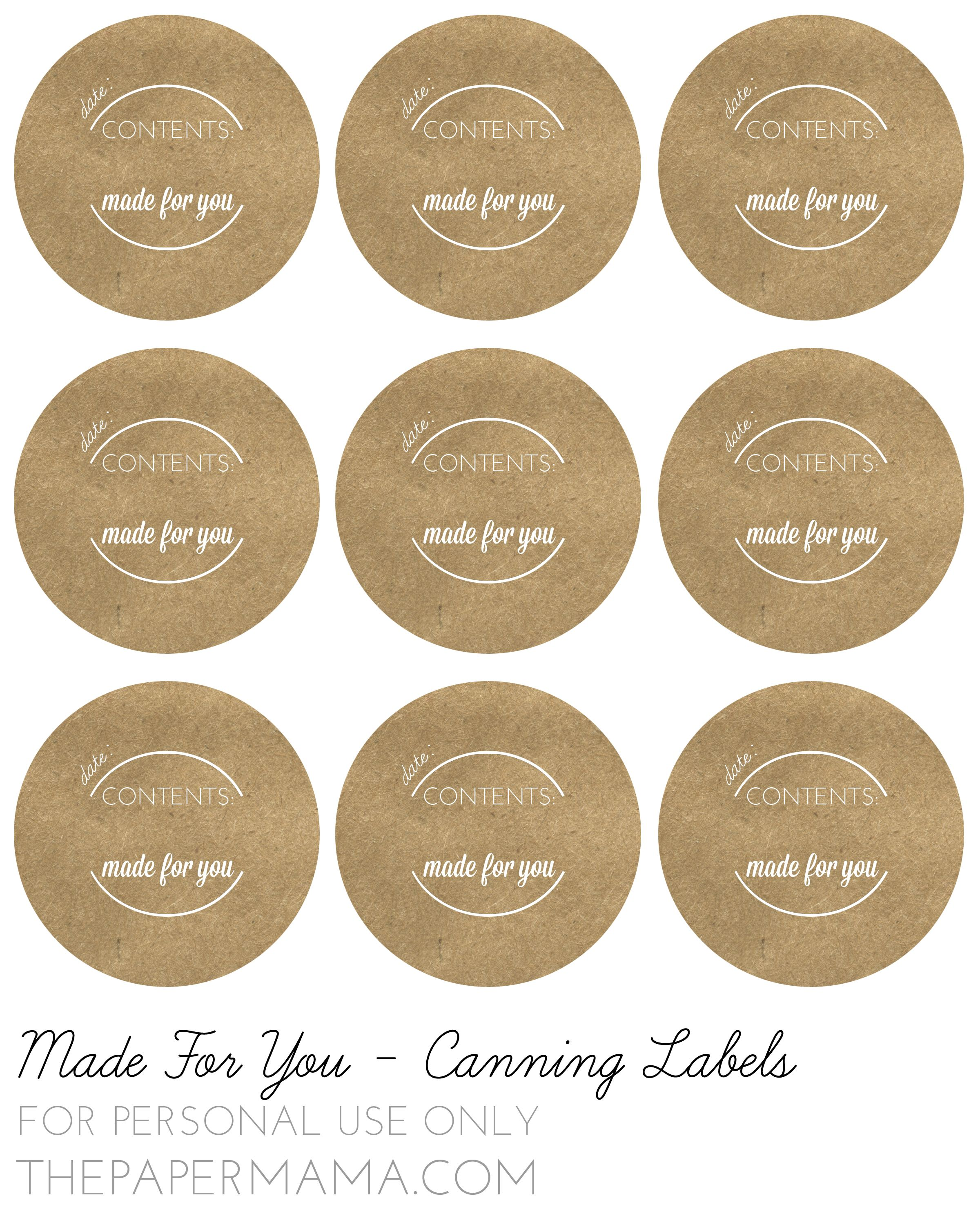 image relating to Free Printable Mason Jar Lid Labels named mason jar lid labels - Google Seem Do-it-yourself Labels Canning