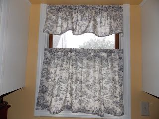 Our Eclectic Life: (Pretty) quick sew-yourself kitchen cafe curtains