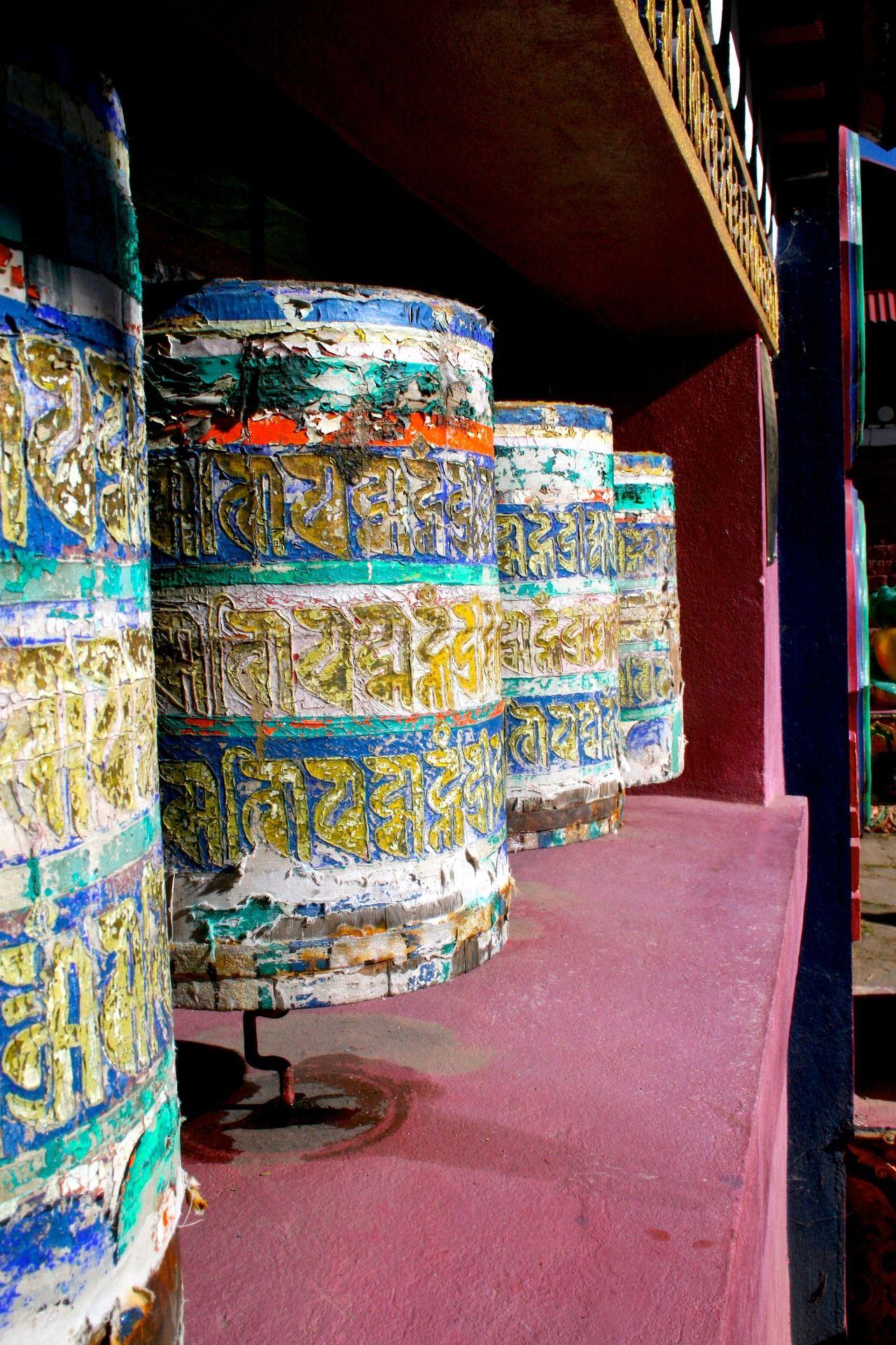 Prayer Wheels At Tengboche Monastery Nepal The Mantra Om Mani