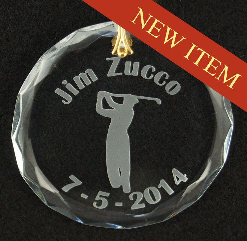 Personalized Glass Christmas Golf Ornament Greatgolfmemoriescom