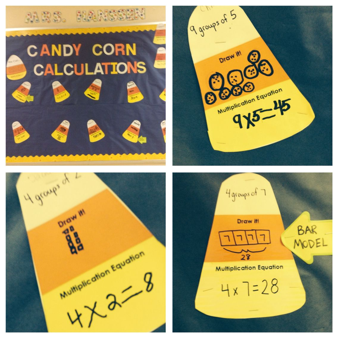Candy Corn Calculations With Multiplication Models Use As