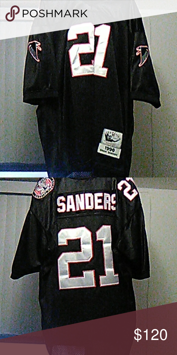 purchase cheap a5b63 bc7c6 1990 Deion Sanders throwback Mitchell & Ness Jerse Good ...