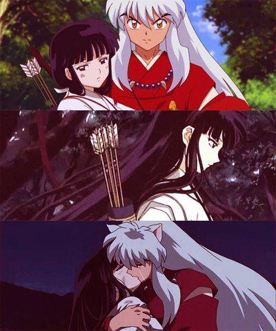 InuYasha and Kikyo - screenshots from InuYasha