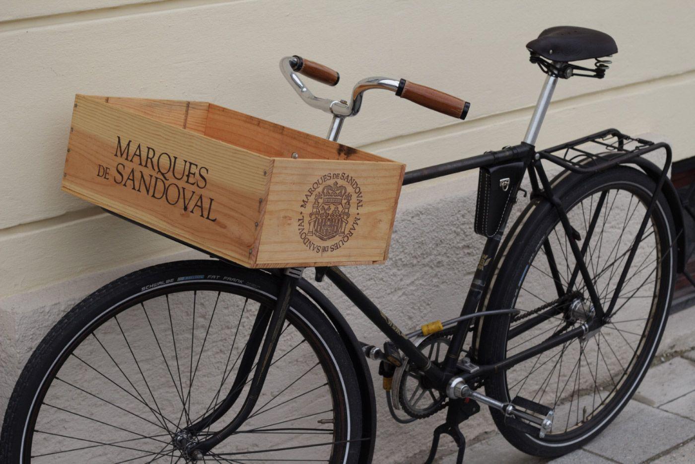 Diy Wine Fahrrad Mit Weinkiste Wein Weinkisten Fahrrad Wein