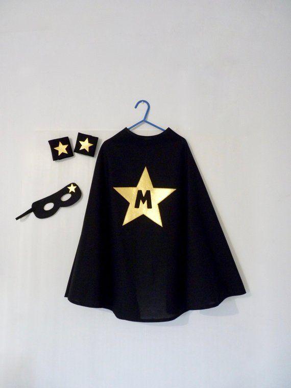 super hero star black cape personalized costume superhero cape super hero black cape kids