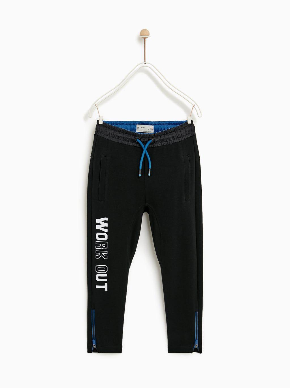 Pantalon Felpa Sporty Kinderkleidung Kinderkleidung Jungen Zara