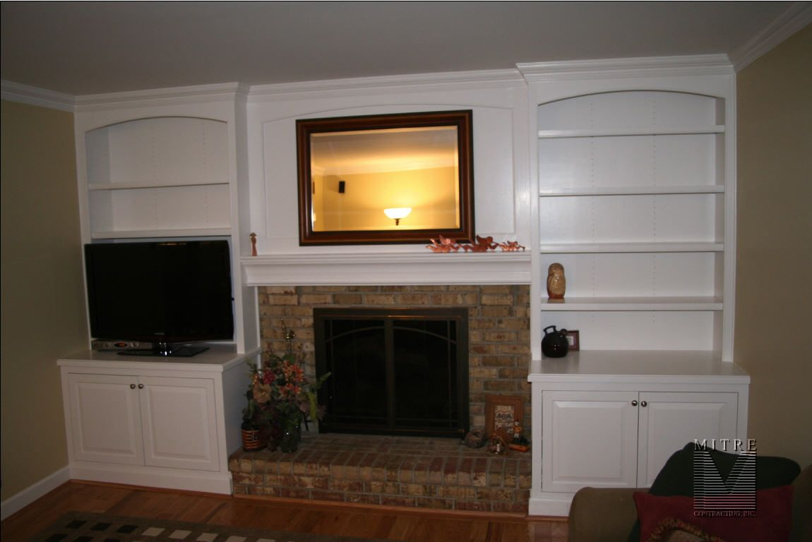 Fireplace With Built Ins On Both Sides Arched Built In Cabinetry Either  Side Of Fireplace With