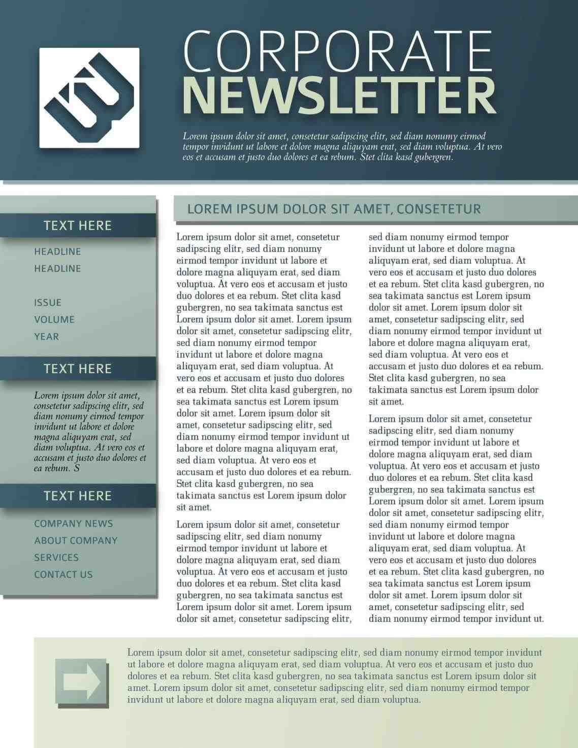 free Department Newsletter Templates newsletter templates