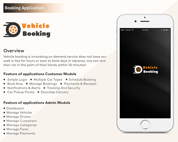 Android Vehicle Booking Mobile Application Template Mobile Application Waiting In Line Booking App