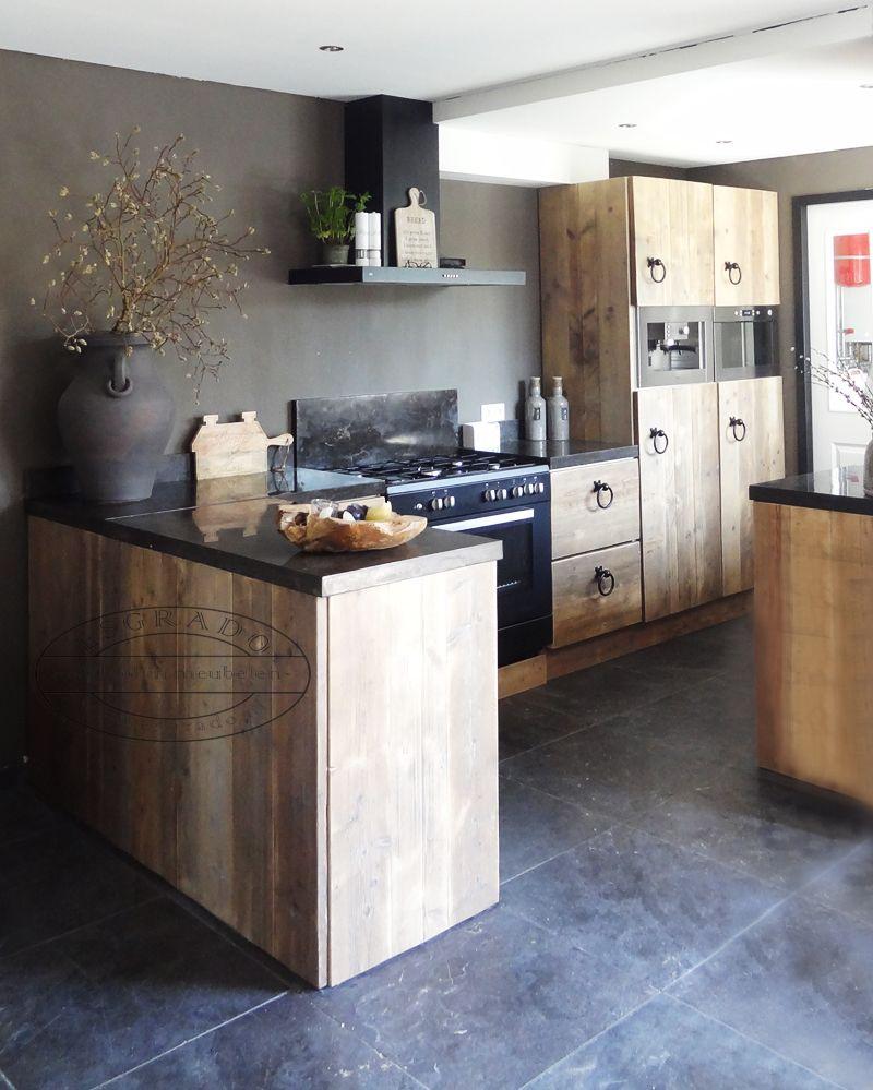 Stoere keuken van steigerhout!   The Kitchen   Pinterest   Moderne ...