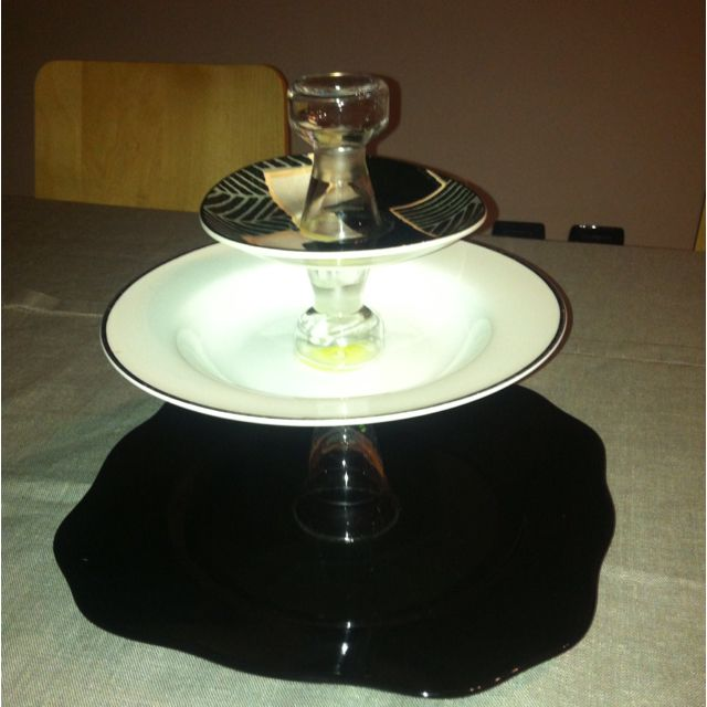 Alzatina con vecchi piatti e bicchieri! | Piatti