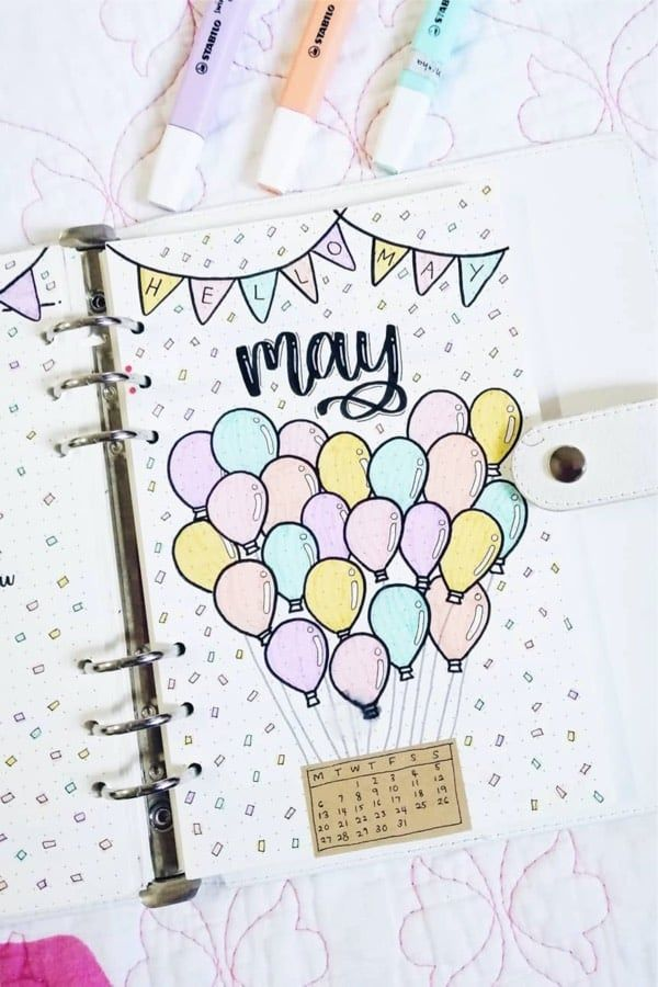 20+ Best Bullet Journal May Monthly Cover Ideas For 2020 - Crazy Laura
