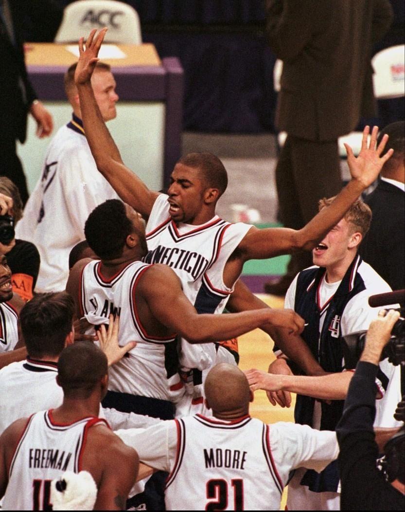 1998 UConn Basketball wins Big East Championship Uconn