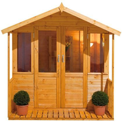 find forest epsom summerhouse with veranda x at homebase visit your local store for the widest range of garden products - Garden Sheds Homebase