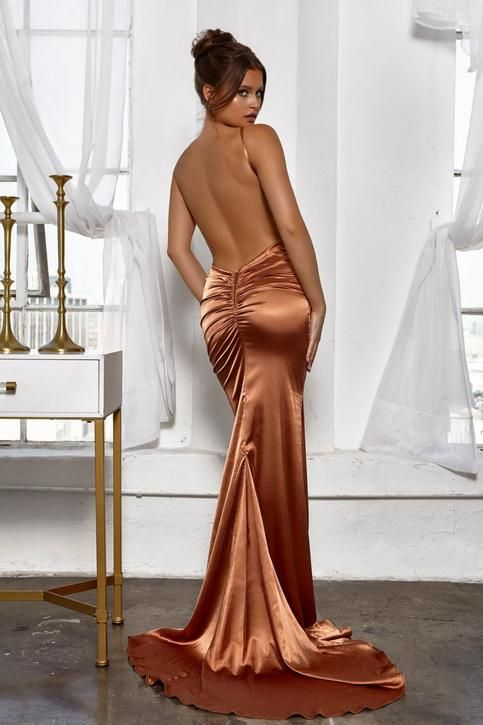11a3bbf7e2f4 Pleated+V+Neckline+Silk+Like+Satin+Mermaid+Long+Prom+Dress+Sexy+Backless+Evening+Party+Dress+2018  This+dress+could+be+custom+made ...