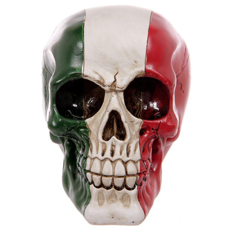 Gruesome Italian Flag Skull Ornament
