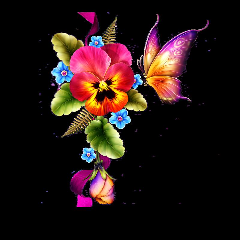 Цветы бабочки картинки на белом фоне, скоро вернусь