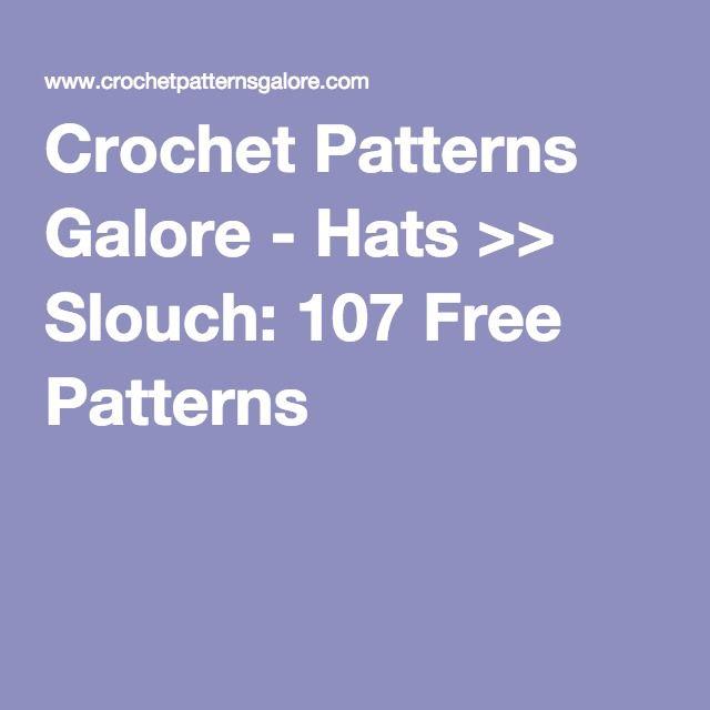 Crochet Patterns Galore - Hats >> Slouch: 107 Free Patterns