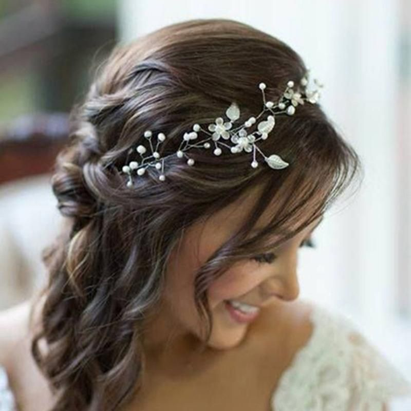 lady bride party wedding leaves shiny hair headband hair accessories ebay