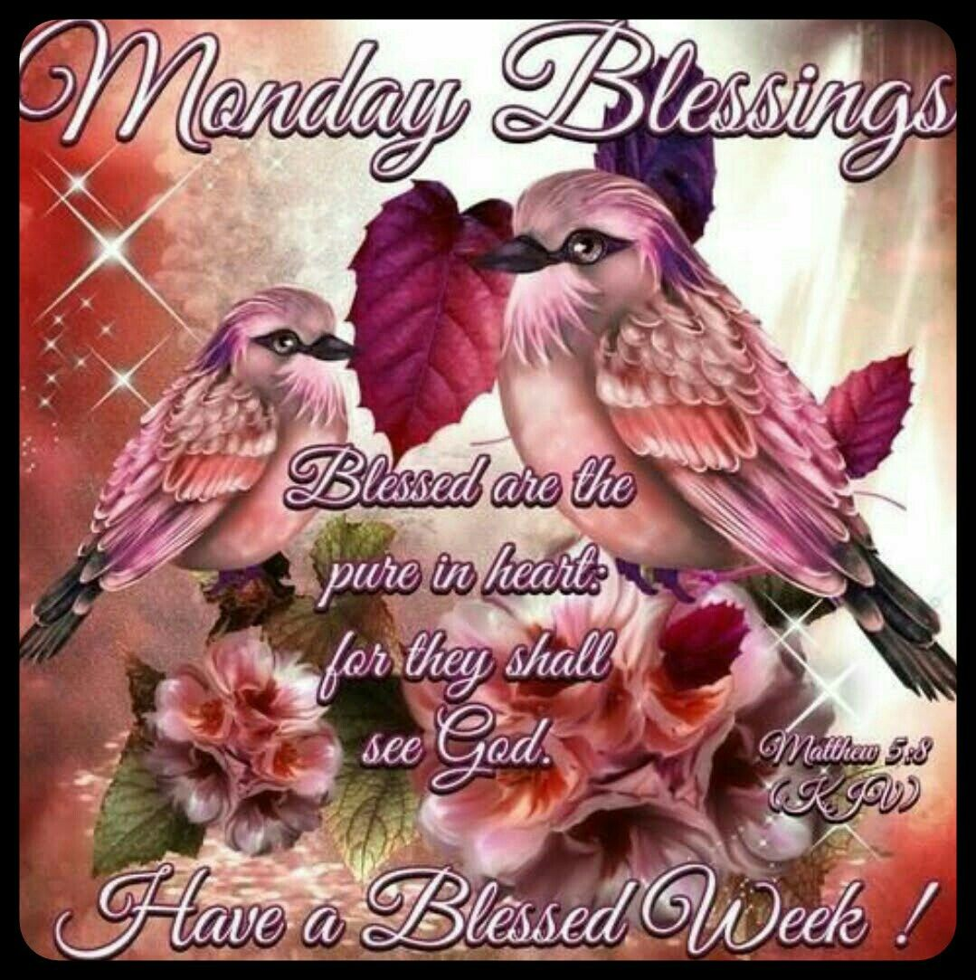Pin By Ruth Wills On Days Of The Week Pinterest Monday Blessings