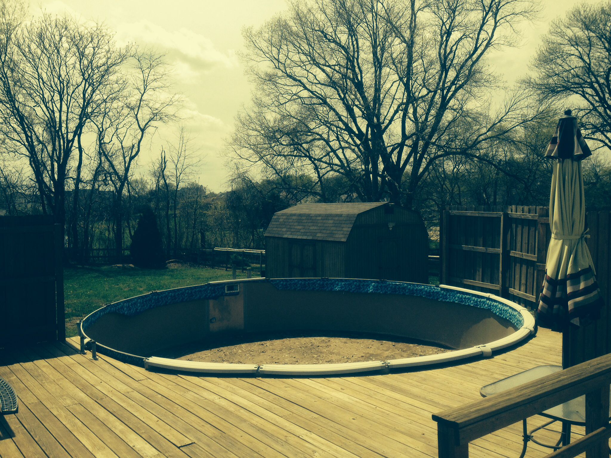 Above ground pool off deck. Would like ideas for ...