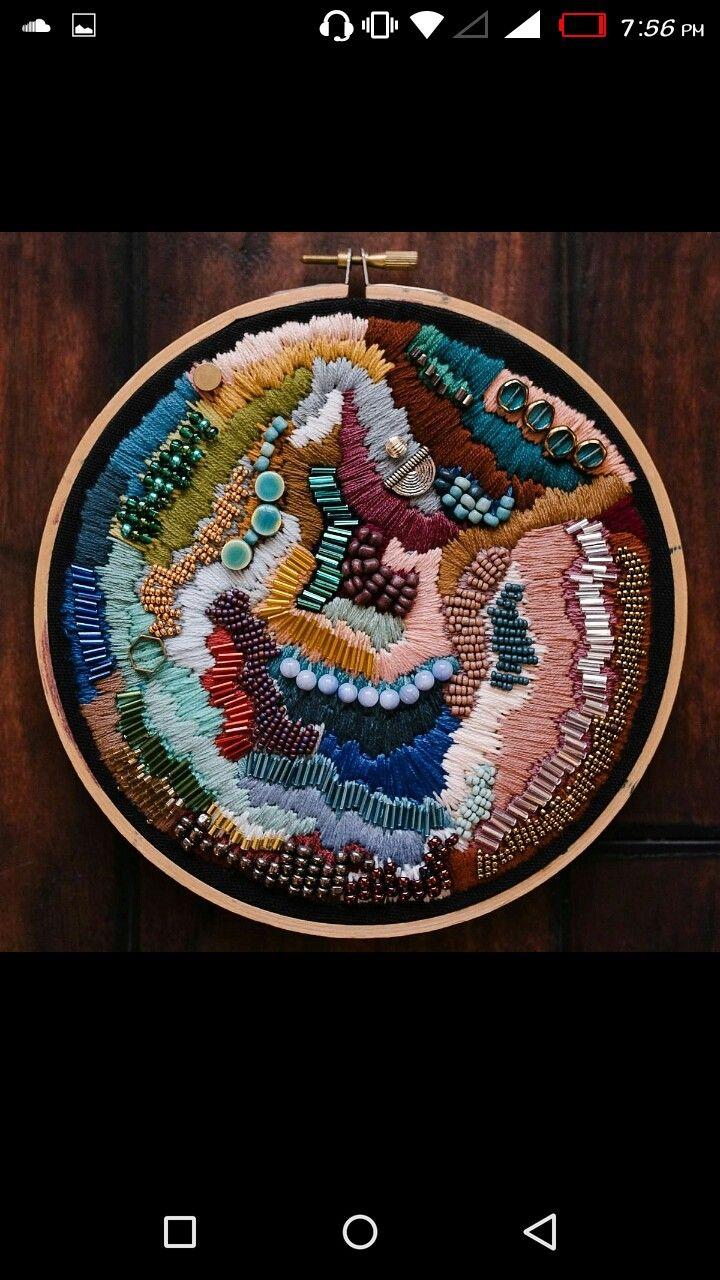 Pin by Wesal Osama on تصميم in 2020 Abstract embroidery