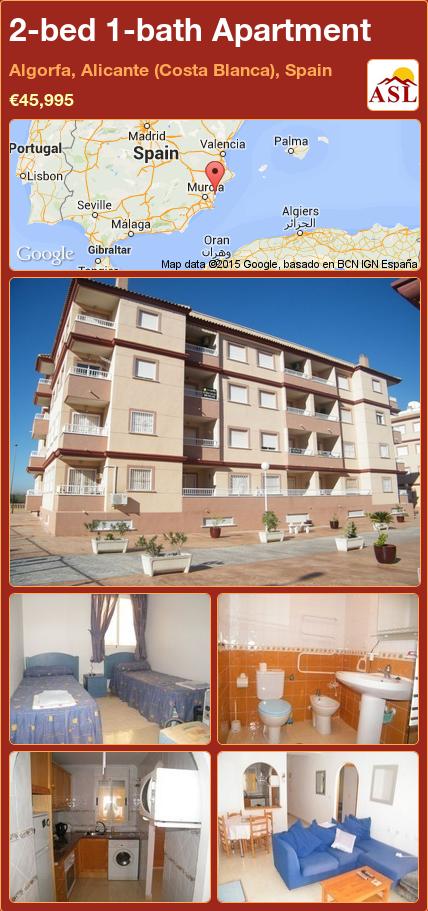 Apartment For Sale In Algorfa Alicante Costa Blanca Spain With 2 Bedrooms 1 Bathroom A Spanish Life Guardamar Del Segura Málaga España