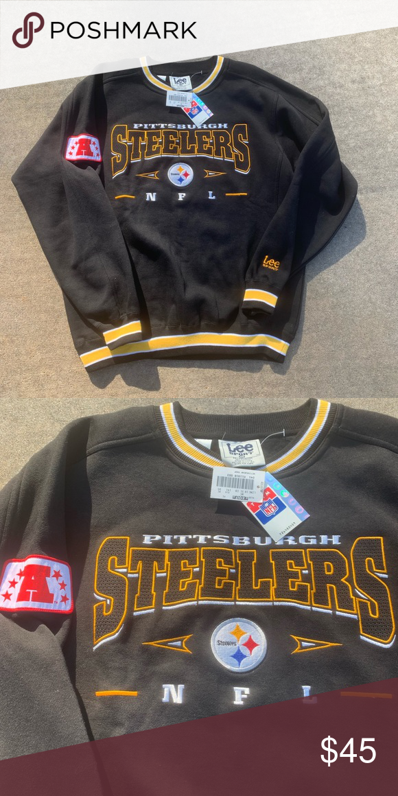 watch dd350 396e3 Vintage Pittsburgh Steelers Sweatshirt NWT Vintage ...