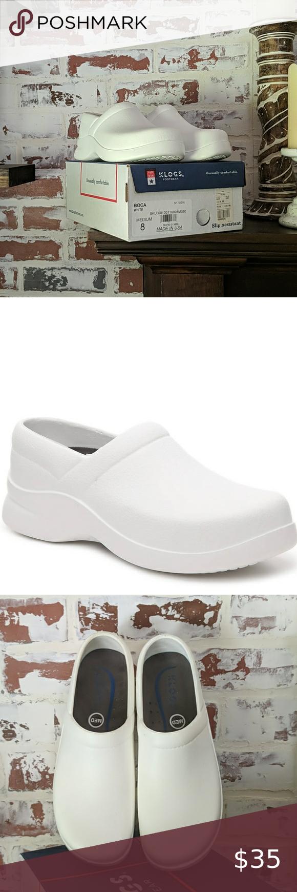 Klogs Boca White Nursing Shoes Med 8 in