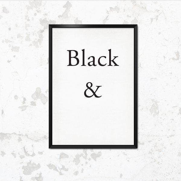 typoposter schwarz wei typo print black white by this is it via. Black Bedroom Furniture Sets. Home Design Ideas
