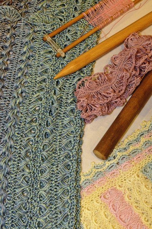 Hairpin lace | CROCHET- ENCAJE IRLANDÉS | Pinterest | Horca, Tejido ...