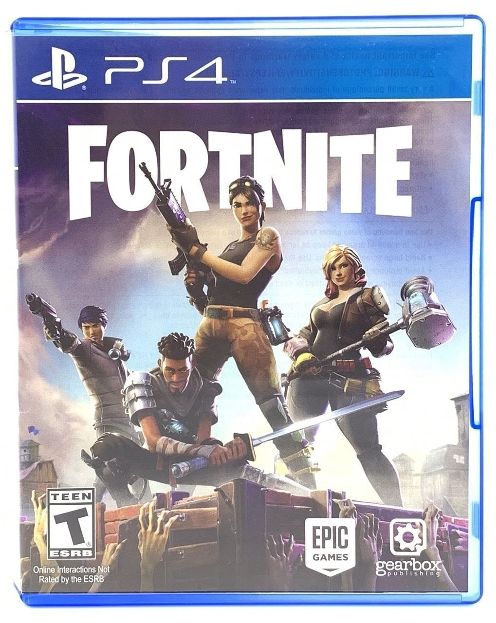 Fortnite Play Station 4 Physical Disk Used Mint Condition RARE we
