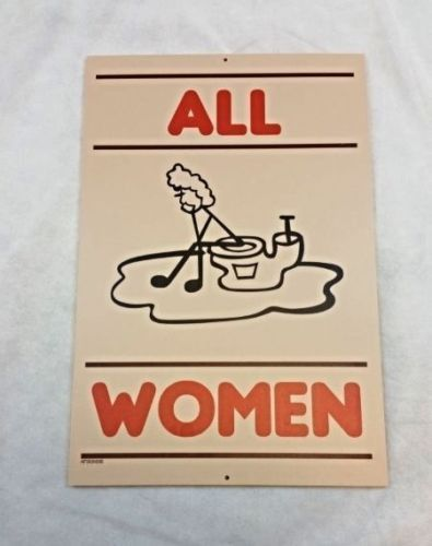 "Restaurant Bathroom Signs hooters restaurant women's restroom bathroom sign ""all women"