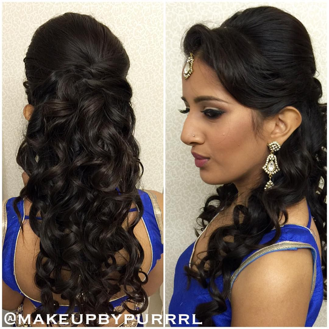Hairstyles for curly hair in saree pinterest curly curly