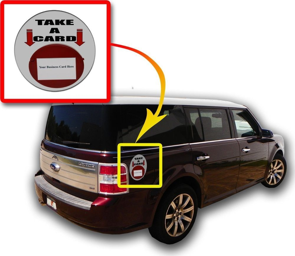 Lot of 6 Red Magnetic Card Caddie Vehicle Outdoor Business Card ...